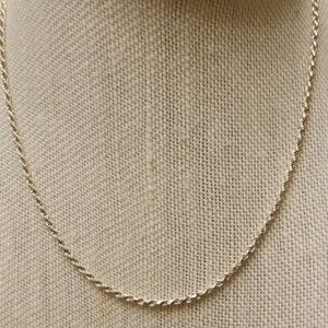 Vintage Sterling 925 Rope Chain